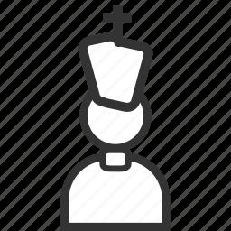 bishop, entrepreneur, job, man, monk, occupation, priest icon