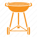 charcoal grill, barbecue, cooking, utensil