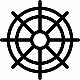 boat, direction, rotate, ship, travel, water, wheel icon