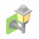 boulevard, lamp, lantern, light, outdoor, wall icon