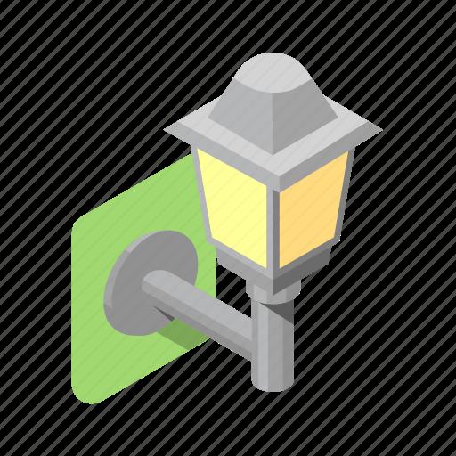 boulevard, lamp, lantern, light, outdoor, wall icon