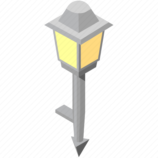boulevard, garden, head, lamp, light, single, spike icon