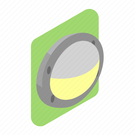 Lamp, light, outdoor, round, wall icon - Download on Iconfinder