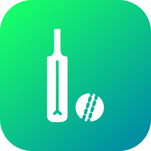 ball, bat, batsman, cricket, equipment, game, sports icon