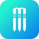 bails, cricket, equipment, game, sports, stumps, wicket icon