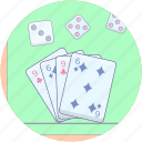 card game, casino, gambling, playing card, poker, spade card icon