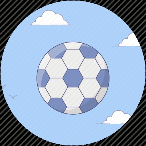 field ball, football, goal ball, olympic football game, playbill, sports equipment icon