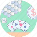 card game, casino, gambling, playing card, poker, spade card icon