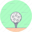 ball tee, golf ball, golf ball pin, golf equipment, golf tee icon