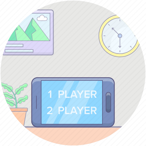 gamming app, handheld mobile game, mobile games, mobile video game, smartphone game icon