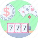 casino, casino game slot, fortune game, gambling, jackpot, slot machine icon