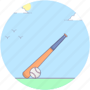 baseball, baseball bat, baseball equipment, game, sports icon