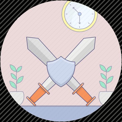 cross sword, fighting game, samurai sword, sword fighting, war fighting tool icon