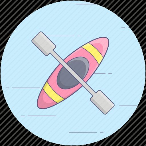 boat and oar, boating game, canoe, canoe paddle, canoe with oar, oars, oars tool icon