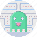 arcade game, ball eating game, game pacman, pacman, pacman ghost icon