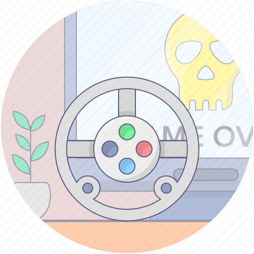 game console steering, racing game, steering game, wheel game, wheel gamepad icon