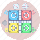 board game, ludo board, ludo game, ludo star, tabletop game icon