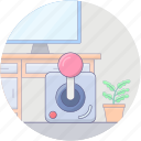 commodore, joystick, playing tool, remote controller, video game controller, video game equipment icon
