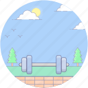 barbell, fitness dumbbell, fitness game, halteres, weight lifting tool icon