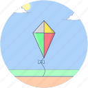 fly kiting, kite, kite flying, kiting, outdoor game, wind kite icon
