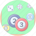 billiard ball, cue game, cue sports, pool ball, snooker ball icon