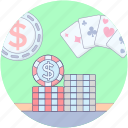 card game, casino, gambling, playing card, poker game, spade card icon