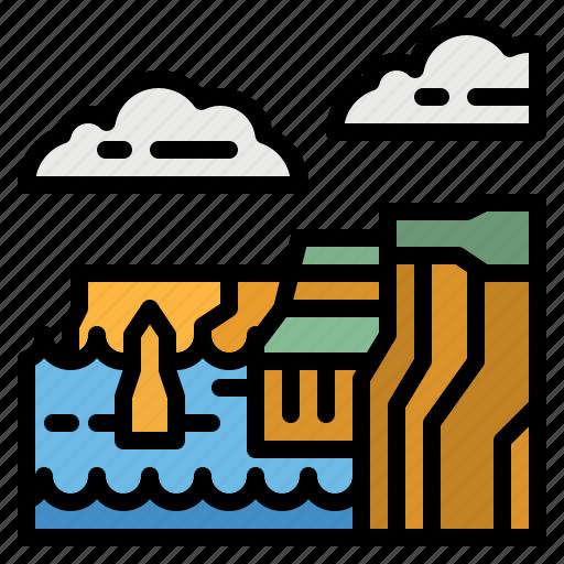 Cliff, landscape, natural, nature, rocks icon - Download on Iconfinder
