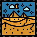 desert, landscape, nature, pyramids, sand