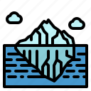 iceberg, landscape, mountain, nature, snow icon