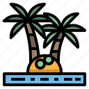 coconut, island, palm, summer, tree