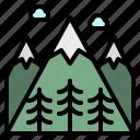 flower, hills, landscape, mountain, snow icon