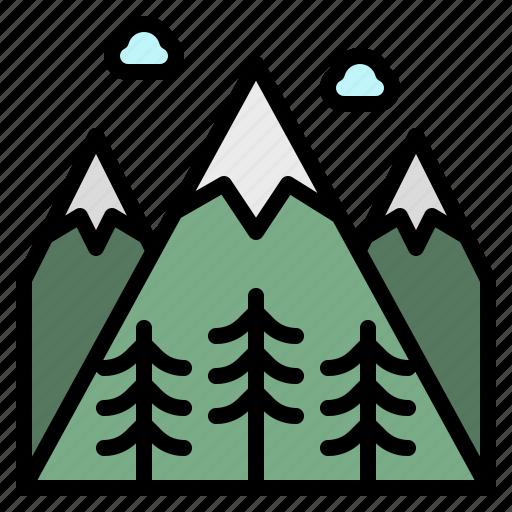 Flower, hills, landscape, mountain, snow icon - Download on Iconfinder