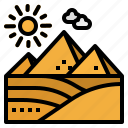 desert, egypt, monuments, nature, pyramid icon