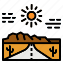 landscape, mountains, road, roadtrip, scenery icon