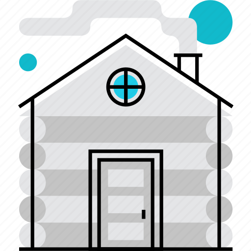 cabin, forest, home, house, hut, shack, wooden icon