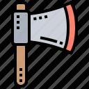 axe, carpenter, cutting, tool, wood icon