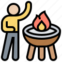 activity, barbecue, food, grill, outdoor icon