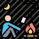 activity, bonfire, campfire, camping, leisure icon