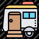 campervan, caravan, journey, trailer, traveling icon