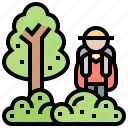 activity, forest, hiking, jungle, nature icon