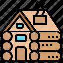 accommodation, cabin, hut, log, wood icon