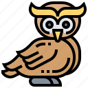 animal, bird, nocturnal, owl, wildlife icon