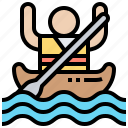 activity, canoe, kayak, river, rowing icon