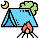 adventure, camping, outdoor, tent, travel icon