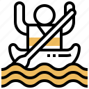 activity, canoe, kayak, river, rowing icon