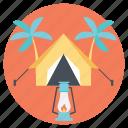 beach vacation, outdoor camping, summer adventure, summer vacation, travel vacation icon