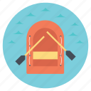 kayak on river, kayaking, outdoor activity, rowing a kayak, travel vacation icon