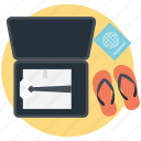 packing for adventure, packing for travel, packing suitcase, traveling, traveling outdoors icon