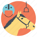 extreme sports, horse riding, horse riding equipment, outdoor activities, outdoor adventures icon