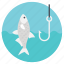 baiting fish, fish, fish hook, fishing, outdoor activity icon